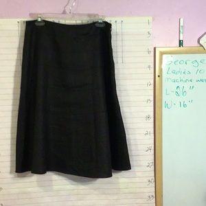 GEORGE design Mark Eisen women's skirt sz10  black